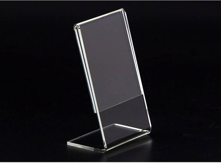 XH0002 透明L型牌(豎向)