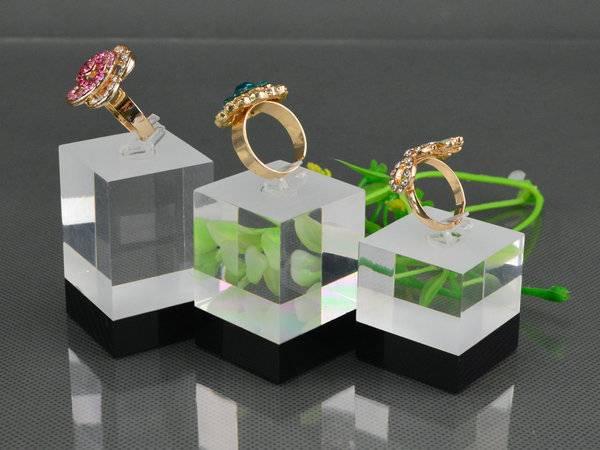 戒指方柱透明膠磚