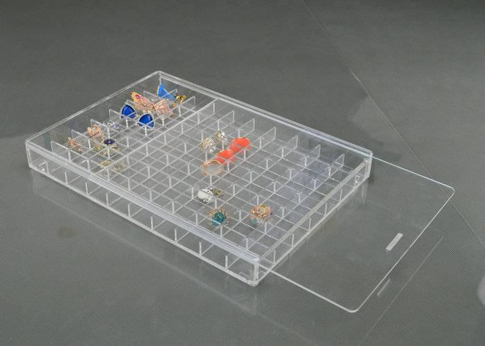 珠寶戒指格子透明膠盒