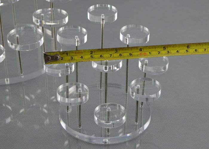 透明亞加力分層梯級膠架