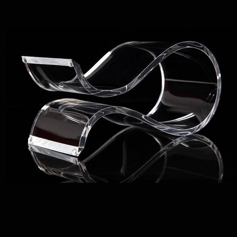 透明亞加力耳機架