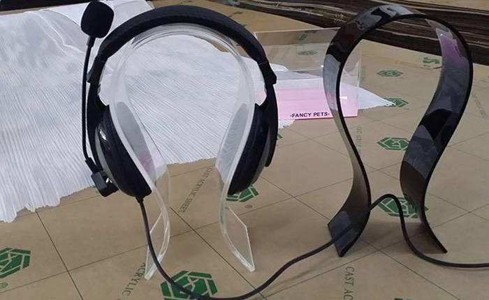 XH44 耳嘜架 透明亞加力膠耳機架 (4mm/6mm)
