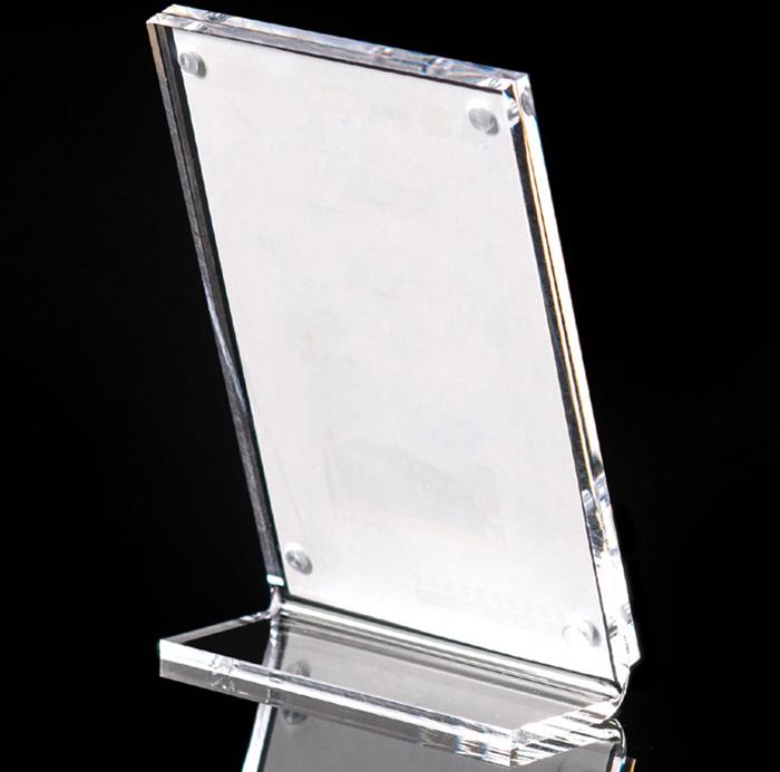 XH216 磁石透明L型展示夾(豎版)