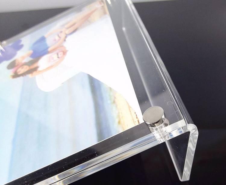 櫃枱L型亞加力磁石相架