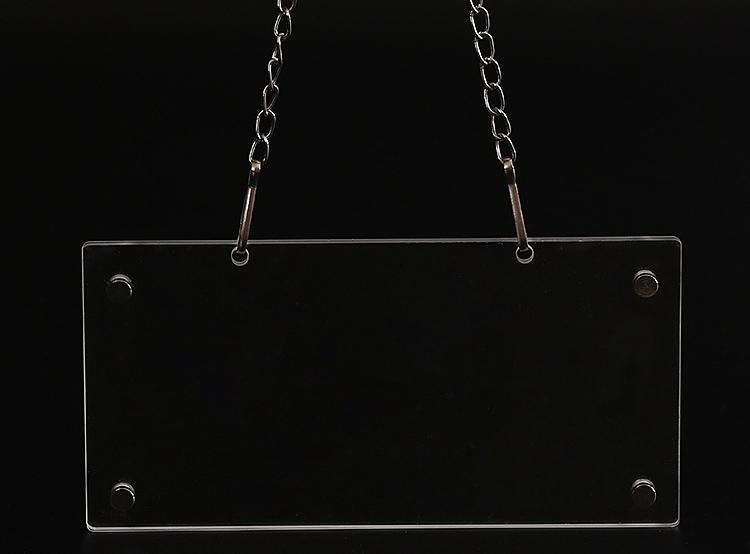 吊掛式透明廣告牌