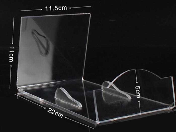 XH00236 炒鍋L形透明支撐膠托架