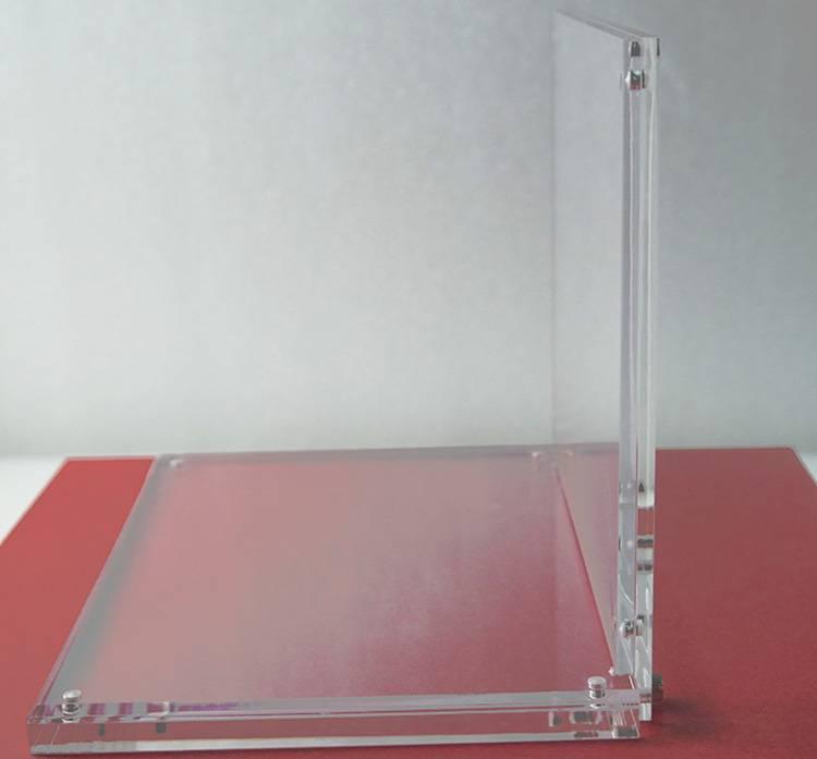 座檯L型亞加力產品陳列架(可換圖案)