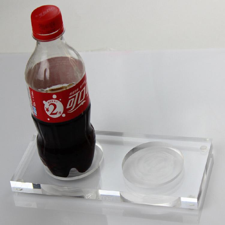 厚板帶槽位透明產品展示架