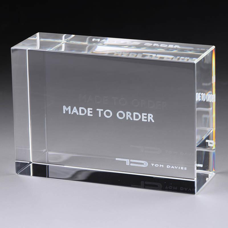 XH95 水晶內雕刻文字膠塊