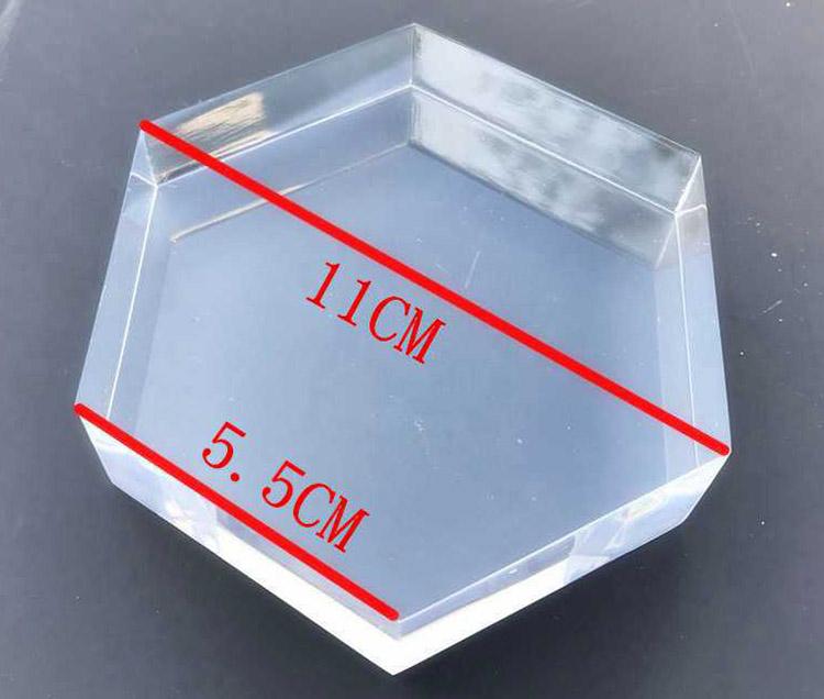 正六角透明膠塊