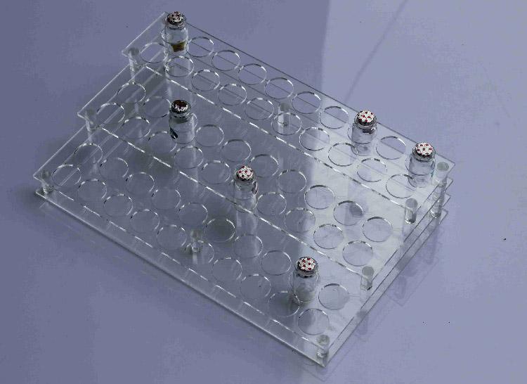 試管洞孔透明膠架