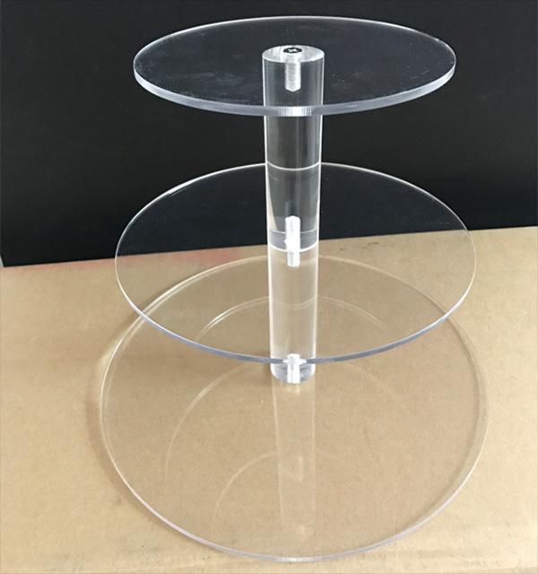 透明分層蛋糕膠架