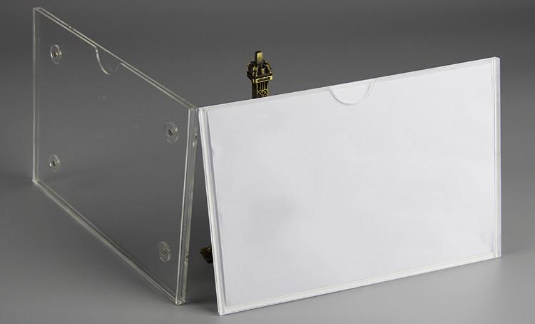 XH191 掛牆磁石透明亞加力插槽
