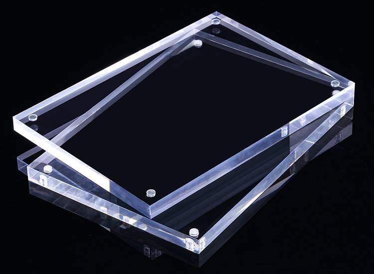 直角透明亞加力磁石膠架